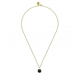 Minimalistic necklace with circle - gold plated