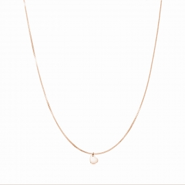 Minimalistic necklace with small heart charm - rosegold