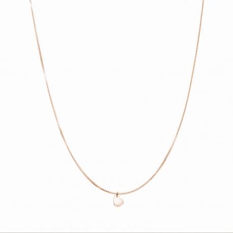 Minimalistische Halskette mit kleinem Herz Anhänger - roségold