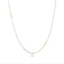 Minimalistic necklace with small heart charm - gold