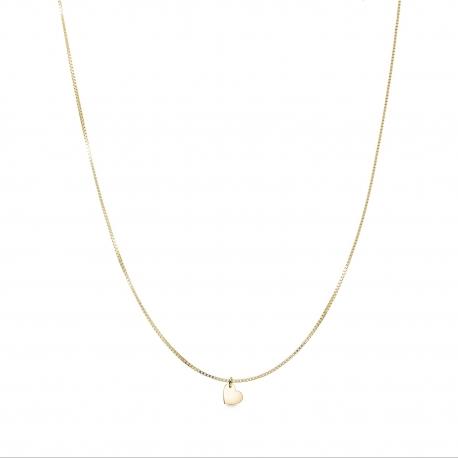 Minimalistische Halskette mit kleinem Herz Anhänger - gold
