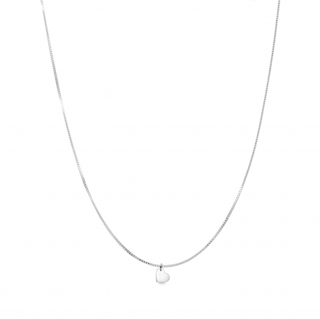Minimalistic necklace with small heart charm - Silver