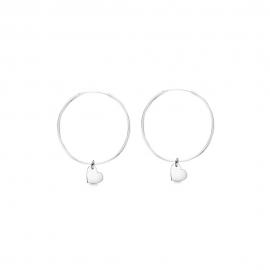 Minimalistische Halskette mit kleinem Herz Anhänger - Silber