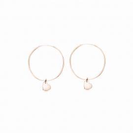 Minimalistische Ohrringe mit Herz Anhängern - roségold