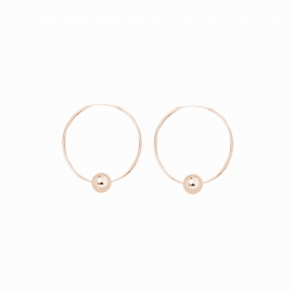 Minimalistic earrings with balls - rosegold