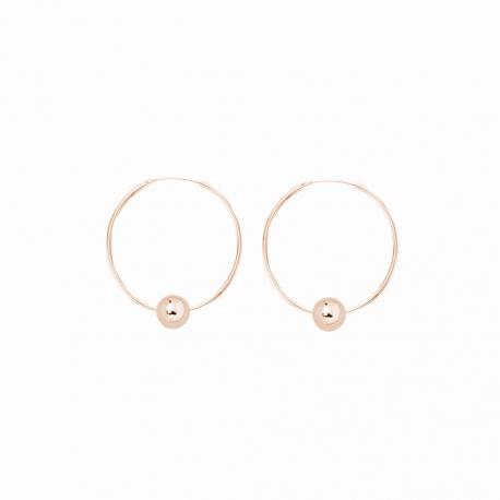 Minimalistische Ohrringe mit Kugeln - roségold