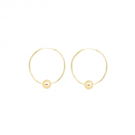 Minimalistic earrings with balls - gold