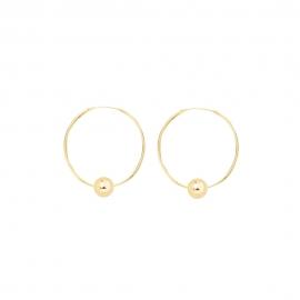 Minimalistische Ohrringe mit Kugeln - gold
