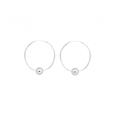 Minimalistic earrings with balls - silver