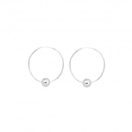 Minimalistische Ohrringe mit Kugeln - SIlber