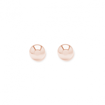 Minimalistic ear studs with 3mm balls - rosegold