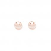Minimalistic ear studs with 3mm balls - rosegold