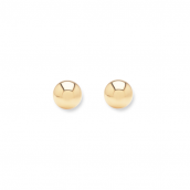 Minimalistic ear studs with 3mm balls - gold