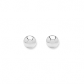 Minimalistic ear studs with 3mm balls - silver