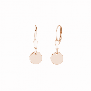 Minimalistische Ohrringe mit runden Anhängern - roségold