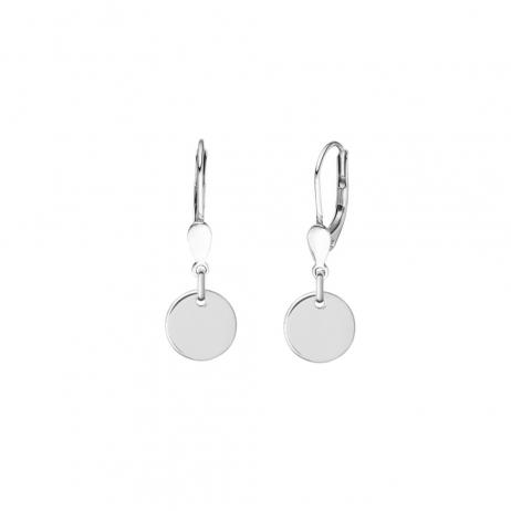 Minimalistische Ohrringe mit runden Anhängern - Silber