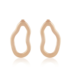 Yael Anders x Tenebris: Statement earrings - rosegld