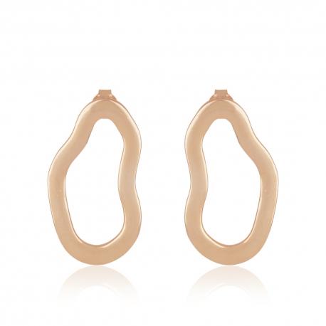 Yael Anders x Tenebris: Statement earrings - rosegld