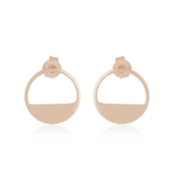 Yael Anders x Tenebris Jewelry: Runde Ohrstecker - roségold