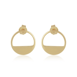 Yael Anders x Tenebris Jewelry: Runde Ohrstecker - gold