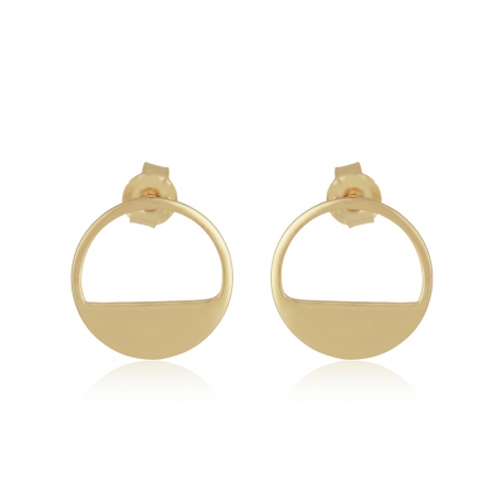 Yael Anders x Tenebris Jewelry: Runde Ohrstecker - gold