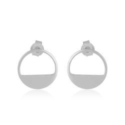 Yael Anders x Tenebris Jewelry: Runde Ohrstecker - Silber