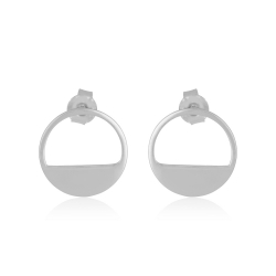 Yael Anders x Tenebris: Statement earrings - silver