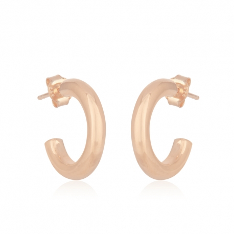 Round, chunky hoops - rosegold