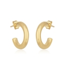 Round, chunky hoops - gold