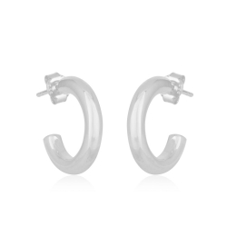Round, chunky hoops - Silver