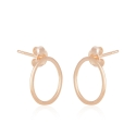 Minimalistic, geometirc cirlce ear studs - rosegold