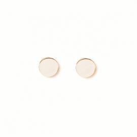 Minimalistische, runde Ohrringe - rosevergoldet
