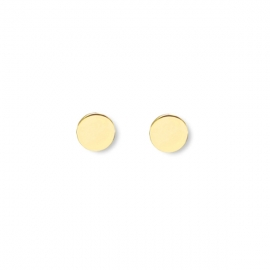 Minimalistic, round earrings - gold plated