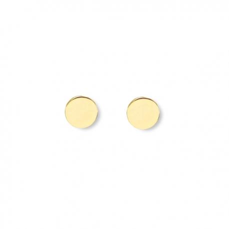 Minimalistische, runde Ohrringe - vergoldet