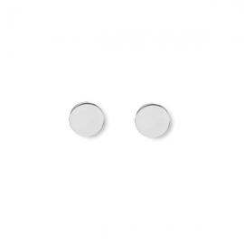 Minimalistische, runde Ohrringe - Silber