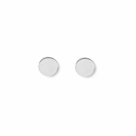 Minimalistic, round earrings - Silver