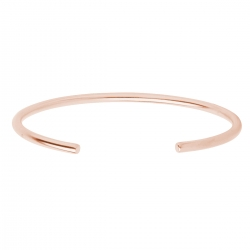 MINIMALISTIC, OPEN BANGLE CUFF - ROSE GOLD