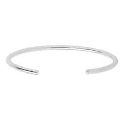 MINIMALISTIC, OPEN BANGLE CUFF - SILVER