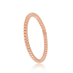 FILIGREE  CORD RING - ROSE GOLD