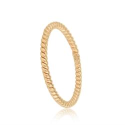 FILIGREE  CORD RING - ROSE GOLD