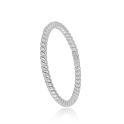 FILIGREE  CORD RING - SILVER
