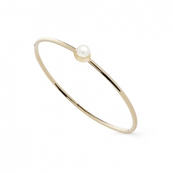 FILIGRANER RING MIT PERLE - GOLD
