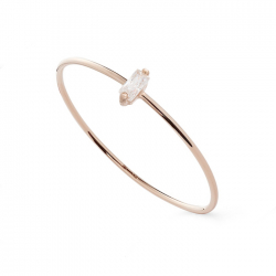 FILIGREE RING WITH ZIRCONIA - ROSE GOLD