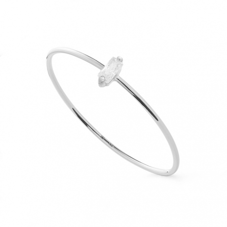 FILIGREE RING WITH ZIRCONIA - SILVER