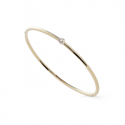 SOLITAIRE RING WITH ZIRCONIA - GOLD