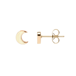FILIGREE EAR STUDS IN MOON DESIGN - ROSE GOLD