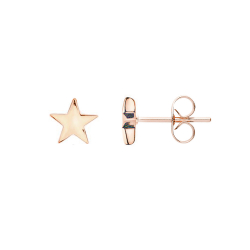 FILIGREE EAR STUDS IN STAR DESIGN - ROSE GOLD