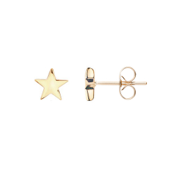 FILIGREE EAR STUDS IN STAR DESIGN - GOLD