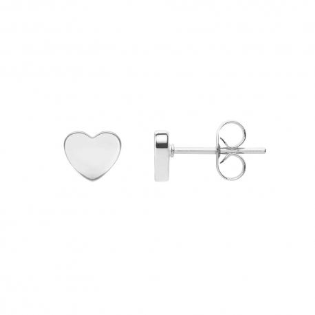 FILIGREE EAR STUDS IN HEART DESIGN - SILVER