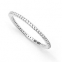 FILIGREE HOOPS WITH ZIRCONIA - SILVER